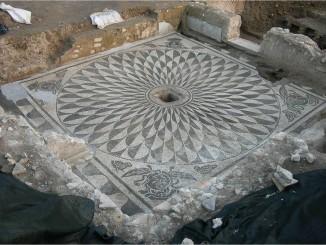 Castel di Guido- Villa Romana OLIVELLA mosaico meduse