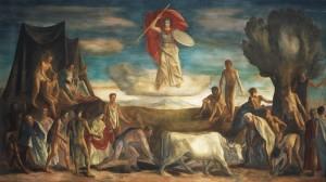 La Fondazione di Roma- Affresco del pittore Quaroni 1939-49