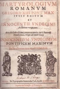 MARTYROLOGIUM ROMANUM