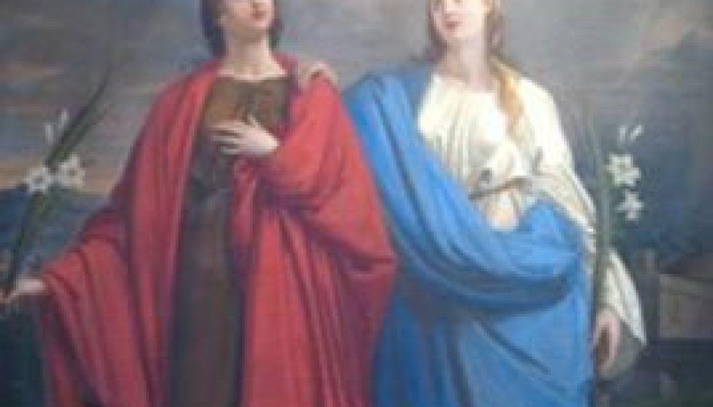 LE MARTIRI DI SELVA CANDIDA-SANTE RUFINA e SECONDA