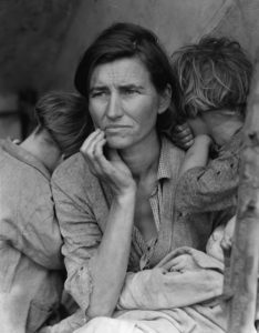 Migrant Mother, Nipomo, San Luis Obispo County, California, 1936 (Dorothea Lange)