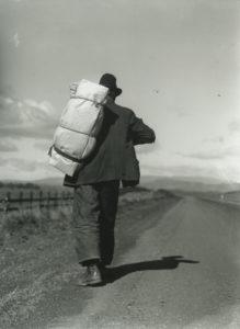 Migrant Worker on California Highway, 1935 (Dorothea Lange)