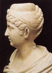 Musei Capitolini -Busto, frammentario, con ritratto di Faustina maggiore, moglie dell'imperatore Antonino Pio.