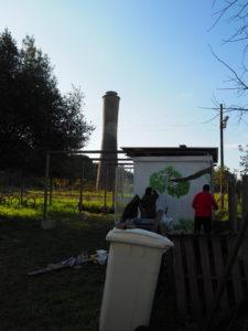 Castel di Guido- Luna e Daniele , gli Artisti dell'Associazione MATRIA al lavoro