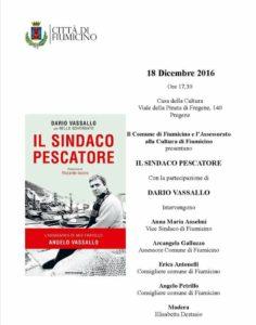 """FREGENE, CASA DELLA CULTURA: DOMENICA PRESENTAZIONE LIBRO """"IL SINDACO PESCATORE"""""""