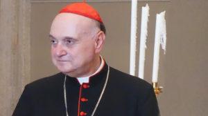 Cardinale Angelo Comastri, arciprete della Basilica Vaticana e presidente della Fabbrica di San Pietro
