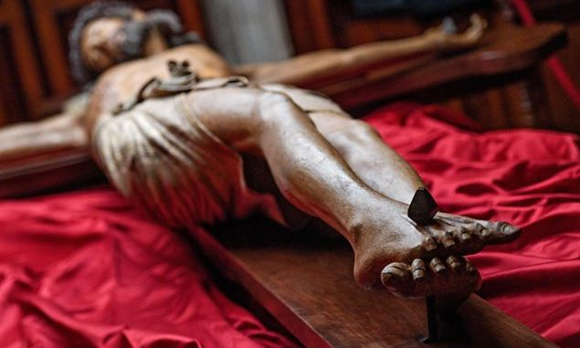 Crocifisso ligneo più antico della Basilica Vaticana