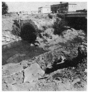 CASTEL di GUIDO-Bivio di FREGENE-via Aurelia- PONTE ROMANO SUL FIUME ARRONE.Foto B/N anni 1960-