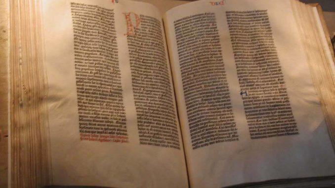 La BIBBIA di Johann Gutenberg