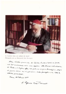 Sua Eminenza Rev.ma Cardinale EUGENIO TISSERANT