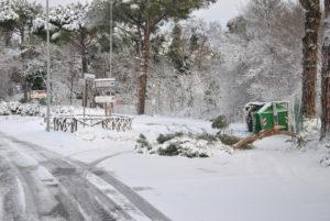 RESIDENZA AURELIA di CASTEL DI GUIDO , la grande neve di Febbraio 2012-