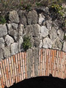 CASTEL di GUIDO-Bivio di FREGENE-via Aurelia- PONTE ROMANO SUL FIUME ARRONE. particolare