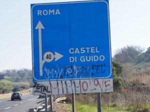 CASTEL di GUIDO-Bivio di FREGENE-via Aurelia- PONTE ROMANO SUL FIUME ARRONE.
