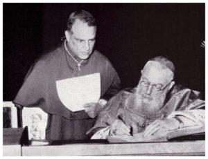 S.E. Monsignor Tito Mancini, Vescovo Ausiliare per la Diocesi di Porto e Santa Rufina. con il Cardinale EUGENIO TISSERANT