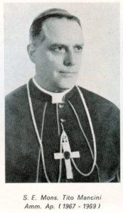 S.E. Monsignor Tito Mancini, Vescovo Ausiliare per la Diocesi di Porto e Santa Rufina.