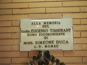 S.E.Cardinale EUGENIO TISSERANT