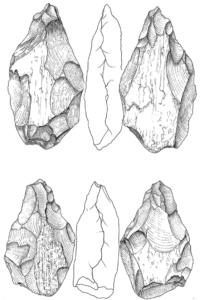 Castel di Guido- Ottava Campagna di scavo-Biffacciali in osso(1/2 grandezza naturale)