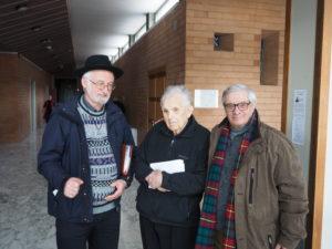 Monsignor Diego Bona , Don Luigi Bergamin, giornalista Franco Leggeri al Convegno FAC