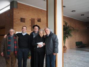 Monsignor Diego Bona , giornalista Franco - Leggeri , Dott. Mario Moschini, Don Matteo Moretti e Don Luigi Bergamin al Convegno FAC