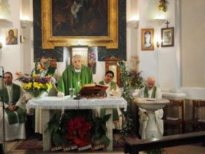 Monsignor Diego Natale Bona a Castel di Guido- chiesa dello Spirito Santo