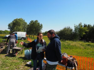 Castel di Guido- - 22 aprile 2017-GAR- Sessione di scavo Villa Romana delle Colonnacce .Dott.Gianfranco GAZZETTI- Presidente GAR