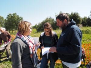 Castel di Guido- - 22 aprile 2017-GAR- Sessione di scavo Villa Romana delle Colonnacce .Dott. Gazzetti-Arch.Valeria Gaspari