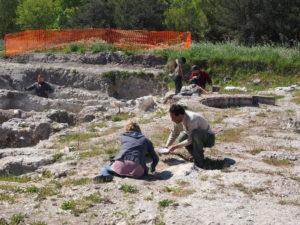 Castel di Guido- - 22 aprile 2017-GAR- Sessione di scavo Villa Romana delle Colonnacce .