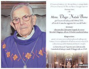 Monsignor DIEGO NATALE BONA – VESCOVO EMERITO-di Saluzzo e Diocesi di PORTO E SANTA RUFINA