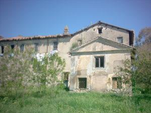 TESTA DI LEPRE DI SOTTO- (Foto anno 2002)-CASALE PAMPHILJ E CHIESA BEATISSIME VERGINE DELLA PIETA'.