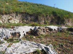 Malagrotta- Roma Municipio XI- Foto 16 febbraio 2017-Scavi Archeologici abbandonati a ridosso della discarica più grande d'Europa.