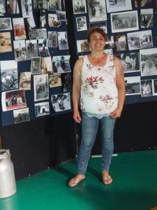 """Signora GRAZIA AMICI, ideatrice e realizzatrice Evento :Testa di LEPRE-Mostra fotografica """"MEMORIE di VITA"""" .60 anni della Storia del nostro Borgo"""