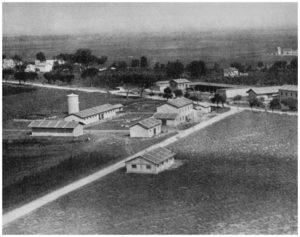 Maccarese -Centri Agricoli della bonifica -Foto aerea del 1930-