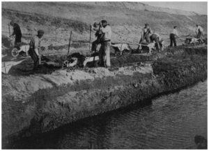 Maccarese -Scavo di un Canale 1926-