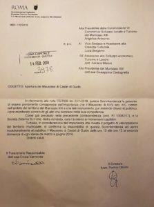 Comunicato riapertura Mausoleo di Castel di Guido-Angelica Ardovino-M5S