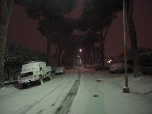 Neve a Castel di Guido - Residenza Aurelia 26 febb 2018
