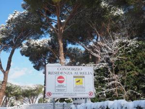 Neve a Castel di Guido - Residenza Aurelia -ore 8:30 del 26 febb 2018