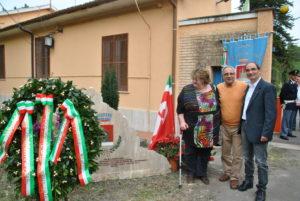 Rappresentati del SPI-CGIL di Rieti,inaugurazione epigrafe Campo FARFA SABINA- 25 aprile 2013-