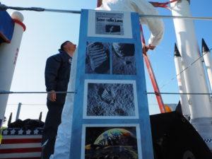 """ro Loco di Testa di Lepre-Contrada Colonnacce  carro """" lo sbarco dell'uomo sulla Luna"""""""