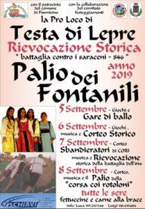 """Testa di Lepre-FIUMICINO (RM) –Seconda edizione """" Palio dei Fontanili il -5-6- 7-8- settembre 2019″-"""