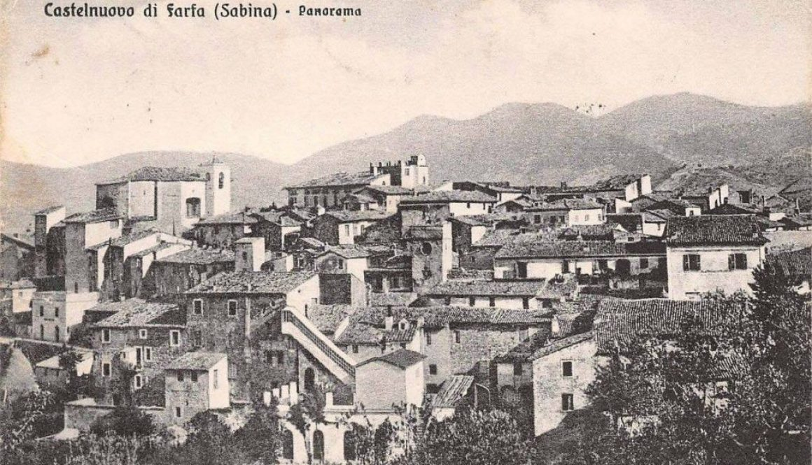 Castelnuovo di Farfa (Rieti) Panorama (prima del 1935)