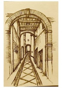 Castelnuovo di Farfa (Rieti) nei disegni di Francesca Vanoncini- Porta Fonte Cisterna