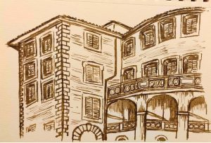 Castelnuovo di Farfa (Rieti) nei disegni di Francesca Vanoncini- Palazzo Eredi Salustri Galli