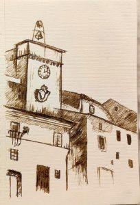 Castelnuovo di Farfa (Rieti) nei disegni di Francesca Vanoncini-La Torre dell'Orologio