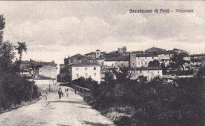 Castelnuovo di Farfa (Rieti) Via Roma Est- foto inizio '900