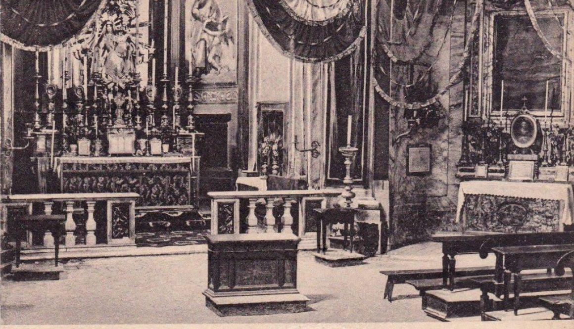 CASTELNUOVO DI FARFA: Foto degli anni'30 interno chiesa parrocchiale.